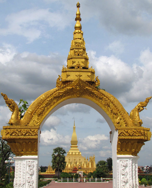 That Luang and Naga Gate